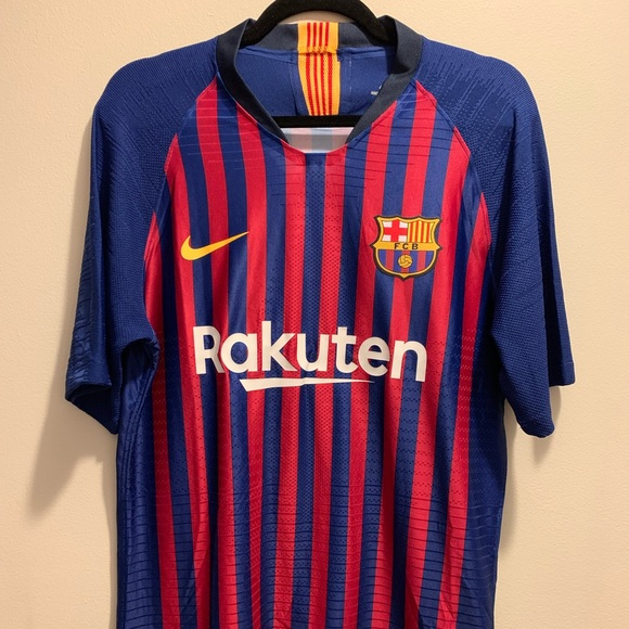 low priced 6552a 83093 2018 Nike Lionel Messi Barcelona Home Match Jersey NWT